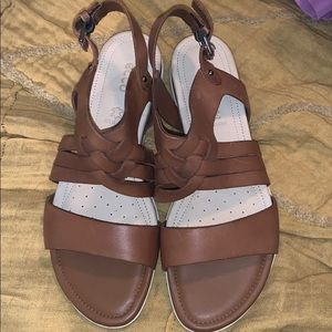 NWOT Ecco genuine leather sandals! Size 38 or 7